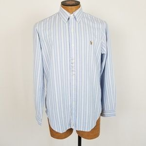 NWT Ralph Lauren Striped Button Down Shirt Medium